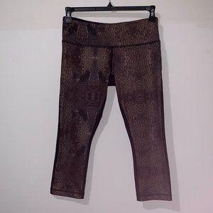 LULULEMON WOMEN'S BROWN & BLACK LEGGINGS - 8